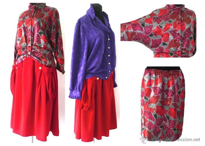 Código promocional amplia selección materiales de alta calidad Lote ropa años 70 80 70s 80s disco falda blusa - Vendido en ...