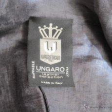 Vintage: CHAQUETA VINTAGE---UNGARO--- LINO AZUL MADE IN ITALY--ALTA COSTURA--AÑOS 80. Lote 40022250