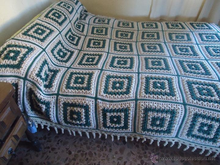 Antigua colcha de ganchillo o crochet en lana comprar - Colchas de ganchillo modernas ...