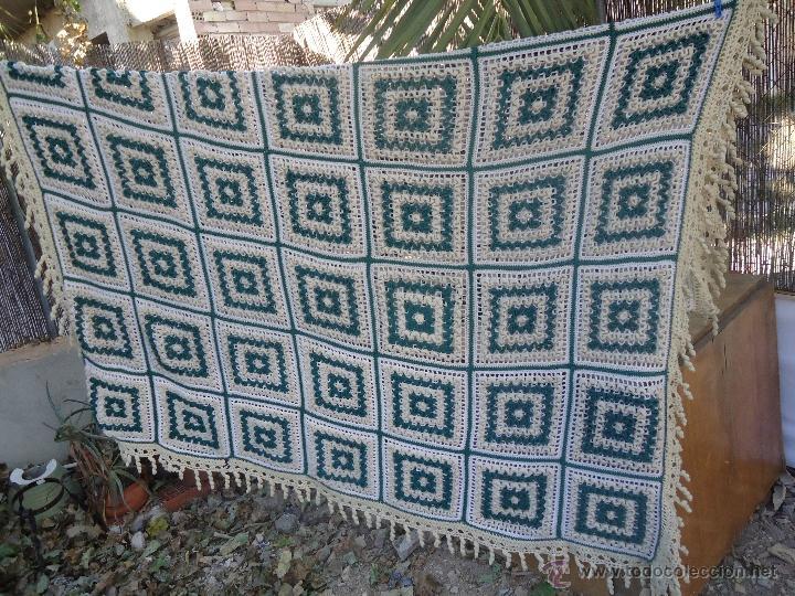 Antigua colcha de ganchillo o crochet en lana comprar - Aplicaciones de crochet para colchas ...