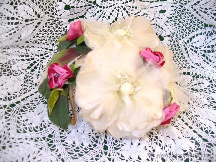 Vintage: Tocado casquete o sombrero de novia de los años 30. Sin estrenar. 20 40 1920s 1930s 1940s Art Decó - Foto 4 - 40243463