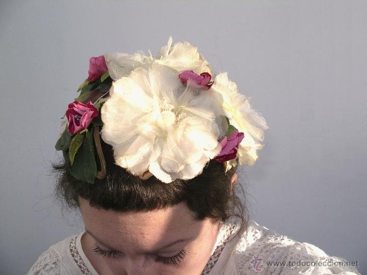 Vintage: Tocado casquete o sombrero de novia de los años 30. Sin estrenar. 20 40 1920s 1930s 1940s Art Decó - Foto 5 - 40243463