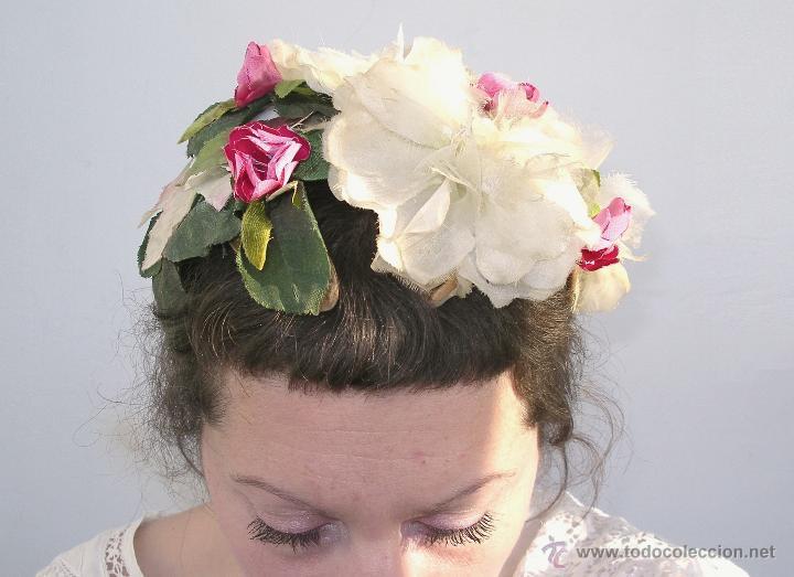 Vintage: Tocado casquete o sombrero de novia de los años 30. Sin estrenar. 20 40 1920s 1930s 1940s Art Decó - Foto 6 - 40243463