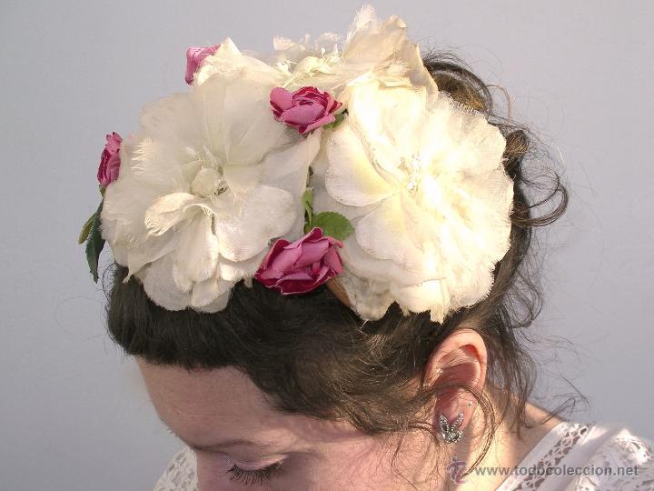 Vintage: Tocado casquete o sombrero de novia de los años 30. Sin estrenar. 20 40 1920s 1930s 1940s Art Decó - Foto 8 - 40243463