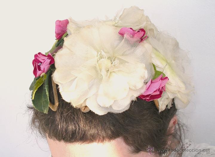 Vintage: Tocado casquete o sombrero de novia de los años 30. Sin estrenar. 20 40 1920s 1930s 1940s Art Decó - Foto 9 - 40243463