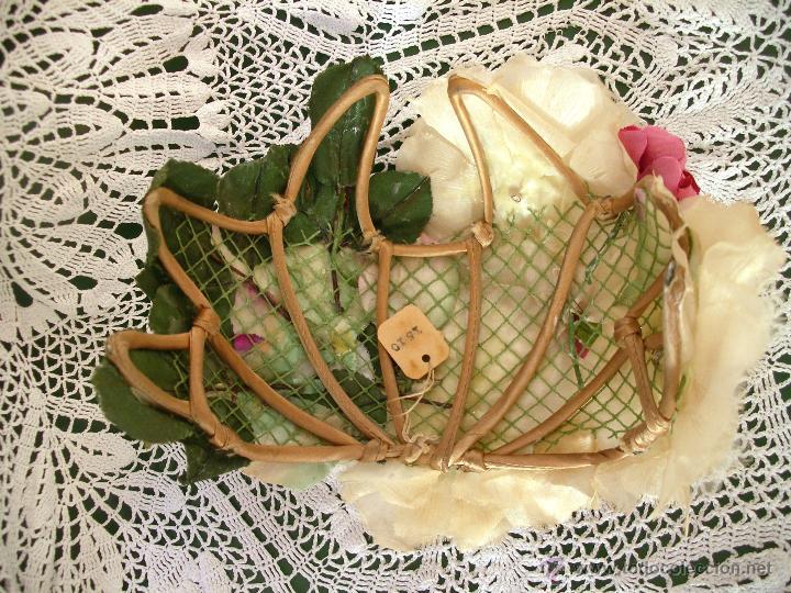 Vintage: Tocado casquete o sombrero de novia de los años 30. Sin estrenar. 20 40 1920s 1930s 1940s Art Decó - Foto 11 - 40243463