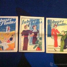 Vintage: LOTE DE 3 SUPLEM. DE LA REVISTA DEL HOGAR LA NOVELA CON PREMIO. LABORES Y MODAS. 1936.Nº 35,36 Y 37 . Lote 40746566