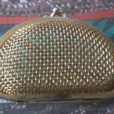 Vintage: MONEDERO DORADO METALICO-VINTAGE. Lote 54529470