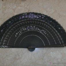Vintage: ABANICO -BONITO ABANICO EN MADERA Y TELA PINTADA A MANO, 111-1. Lote 41246019