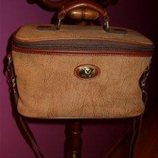 Vintage: VINTAGE,NECESER DE VIAJE EN PIEL EN COLOR MARRON,MARCA VALISA.. Lote 41727548