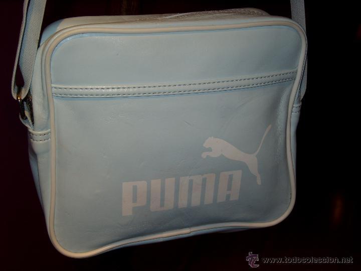 Vintage Marca En Bandolera Claro Puma Bolso Azul TKclJu13F