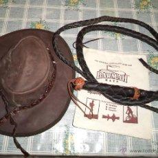 Vintage: SOMBRERO PIEL BARMAH CINTA DIENTES COCODRILO + LATIGO PIEL AUSTRALIA. Lote 42092701