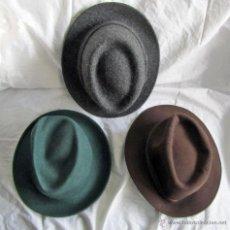 Vintage: 3 SOMBREROS DE LANA. JAMIR, CAPO Y SIN MARCA. Lote 42254874