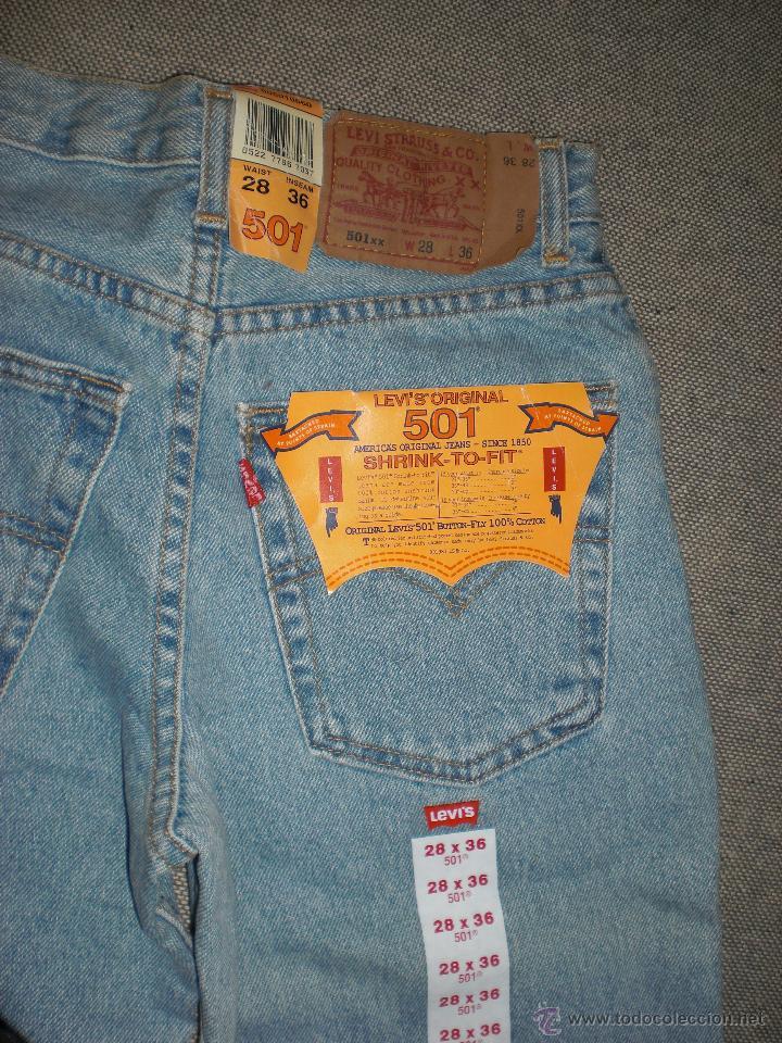 Originales Pantalones Americanos Levis 501 Tal Vendido En Venta Directa 42333974