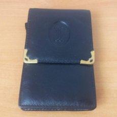 Vintage: MONEDERO HOMBRE .EN PIEL NEGRO. Lote 42859700