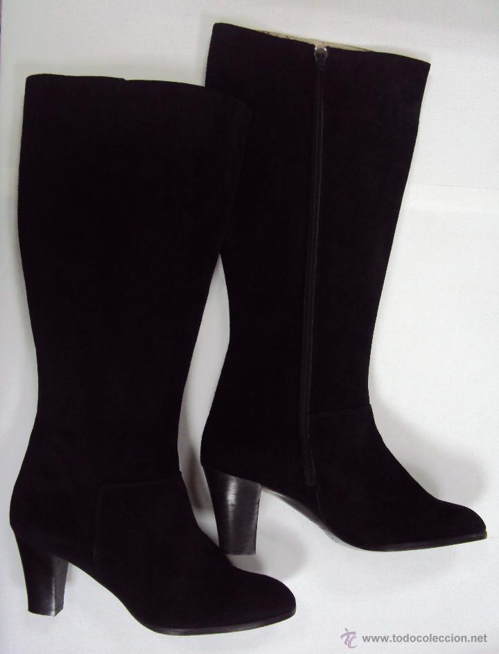 Forradas Blanca Ante Moda Le En Botas De Comprar Negro Piel qxP5Y7ptw