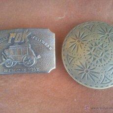 Vintage: PRECIOSAS HEBILLAS EN METAL ANTIGUO.MADE IN SPAIN. Lote 43941594