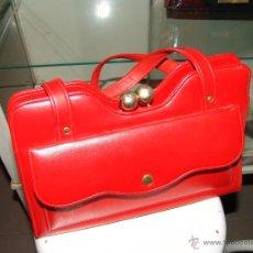 Vintage: BOLSO DE PIEL.AUTÉNTICO VINTAGE!.. Lote 43752845
