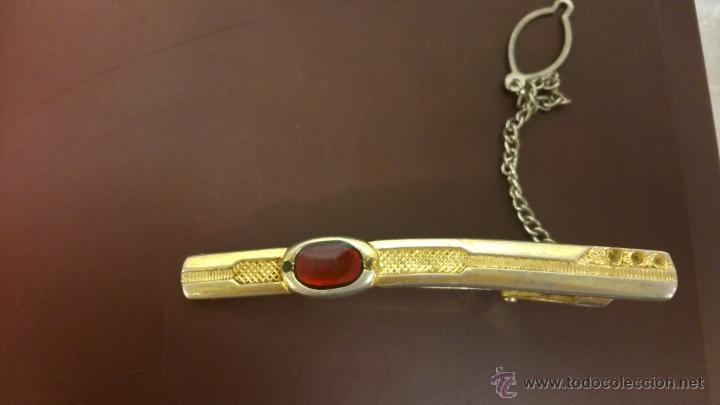 Vintage: Pasador de corbata con piedra roja - Foto 4 - 44779796