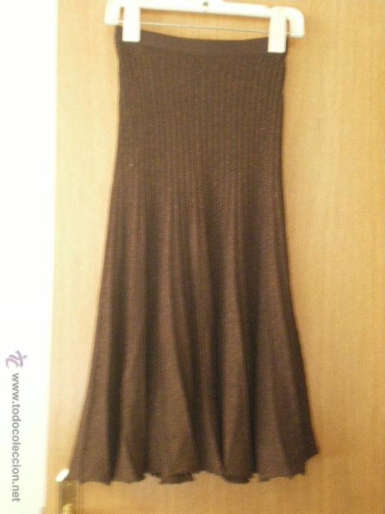 FALDA PUNTO-TALLA 44 (Vintage - Moda - Mujer)