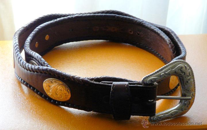 profesional ahorre hasta 80% precio de calle Auténtico cinturón texano en cuero. herrajes en - Vendido en ...