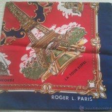 Vintage: PAÑUELO DE MUJER - ROGER L - PARIS - MIDE 52 X 52 CMS. - . Lote 46245793