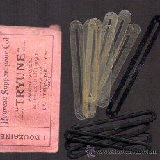 Vintage: SOBRE CON 11 SOPORTES PARA COLETAS. TRYUNE. PARIS. Lote 46490197