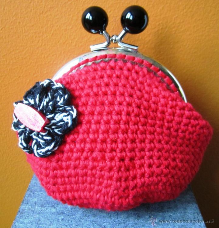 Crochet Monedero Vintage A Ganchillo Modelo Comprar - Monederos-ganchillo