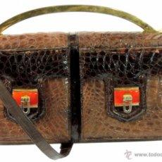 Vintage: BOLSO EN PIEL DE COCODRILO. AÑOS 70 VINTAGE ANCIENT. Lote 47693103
