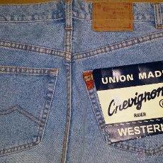 Vintage: PANTALON CHEVIGNON AÑOS 80 - 90. TALLA 31. ANCHO CINTURA 38 CM. COLOR VAQUERO GASTADO. Lote 85976986