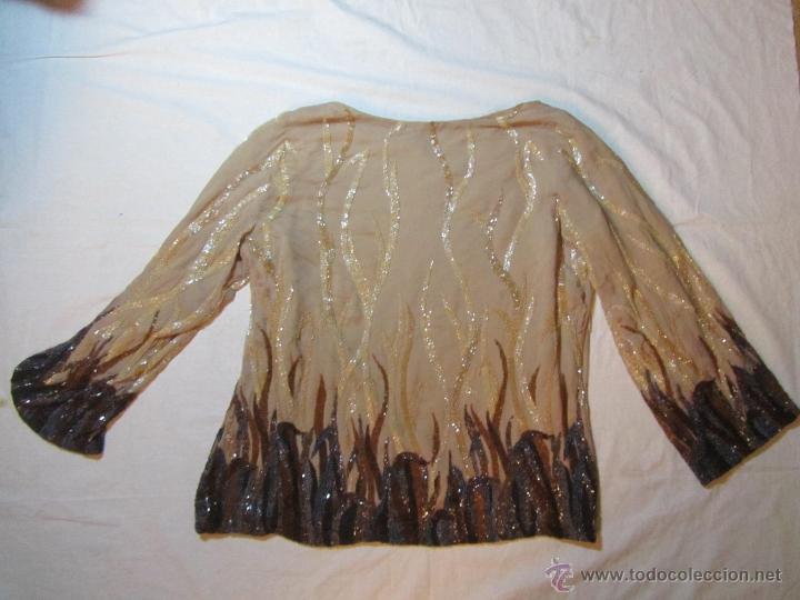 Vintage: Blusa fantasía o fiesta bordada con abalorios - Foto 15 - 48196288