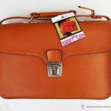 Vintage: FANTASTICO BOLSO MALETIN ORIGINAL AÑOS 80 SPAIN SAFTA ESCOLAR TB MOCHILA MARRON. Lote 48382218