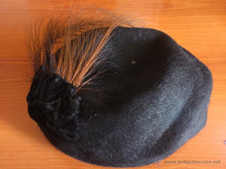 Vintage: Figura 0108 Sombrero de mujer Galerias Pilar Gerona Girona Gorro piel ? Estilo francés - Foto 2 - 48884821