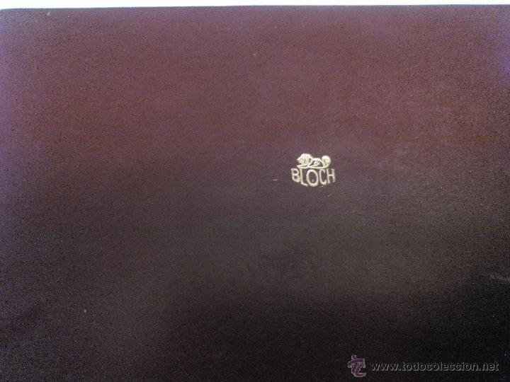 Vintage: Estuche de cuero marca bloch,con cepillo,lima y corta uñas. ideal pata viaje.Años 70 - Foto 5 - 49039477