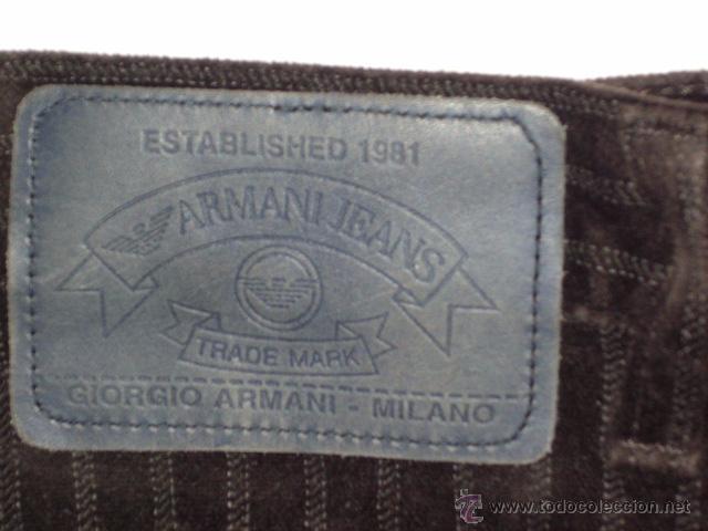 Vintage: PANTALON GIORGIO ARMANI JEANS, TELA O PIEL DE MELOCOTON,MILANO MADE IN ITALY, SIZE 32. - Foto 9 - 49383194