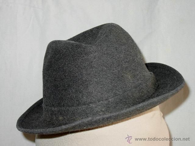 8fc7416e1d565 Vintage  Antiguo sombrero de fieltro de lana o pelo. Tipo trilby. (London