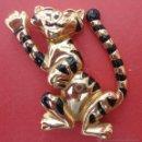 Vintage: PRENDEDOR. BROCHE. TIGRE. Lote 49665962
