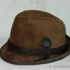 Vintage: SOMBRERO DE PIEL Y FIELTRO DE LANA O PELO, TIPO CAZA TRILBY. MARCADO TREND. AÑOS 70. Lote 50327250