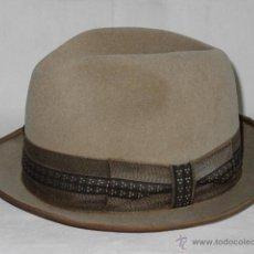 Vintage: SOMBRERO FIELTRO DE PELO O FIELTRO DE LANA, TIPO TRILBY BORSALINO. MARCA TAUNUS. ALEMANIA. AÑOS 70. Lote 50328039