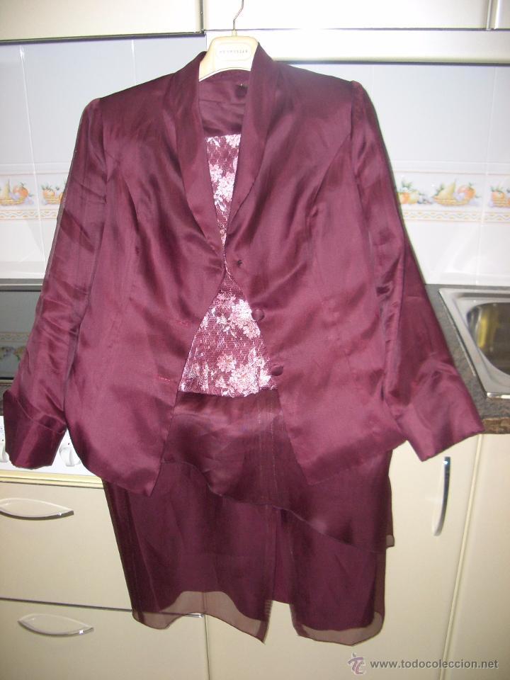 TRAJE CHAQUETA CON BLUSA DE CEREMONIA (Vintage - Moda - Mujer)