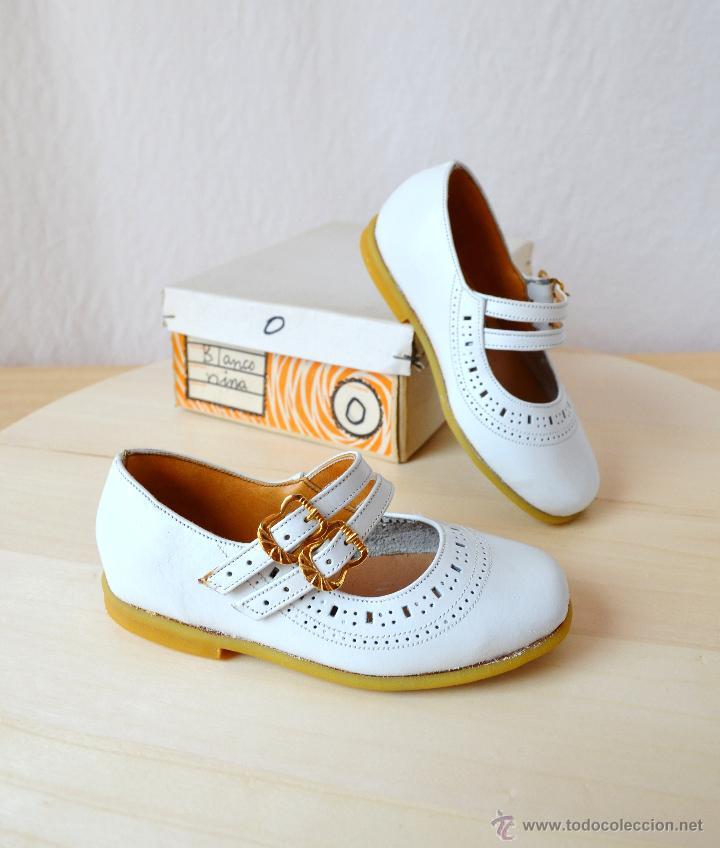 c15a3ec5a antiguos zapatos vintage de niña blancos años 6 - Comprar ...