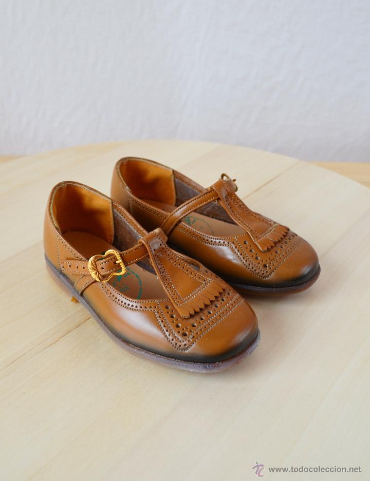eb73c9fc8 Antiguos zapatos vintage de niña marrones años - Vendido en Venta ...