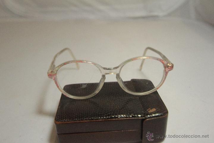 Montura de gafas con cristales graduados, para niño, marca little crown, vintage segunda mano