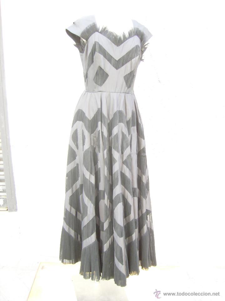 VESTIDO DE ALTA COSTURA, DE ASUNCION BASTIDA,. HACIA 1950 (Vintage - Moda - Mujer)
