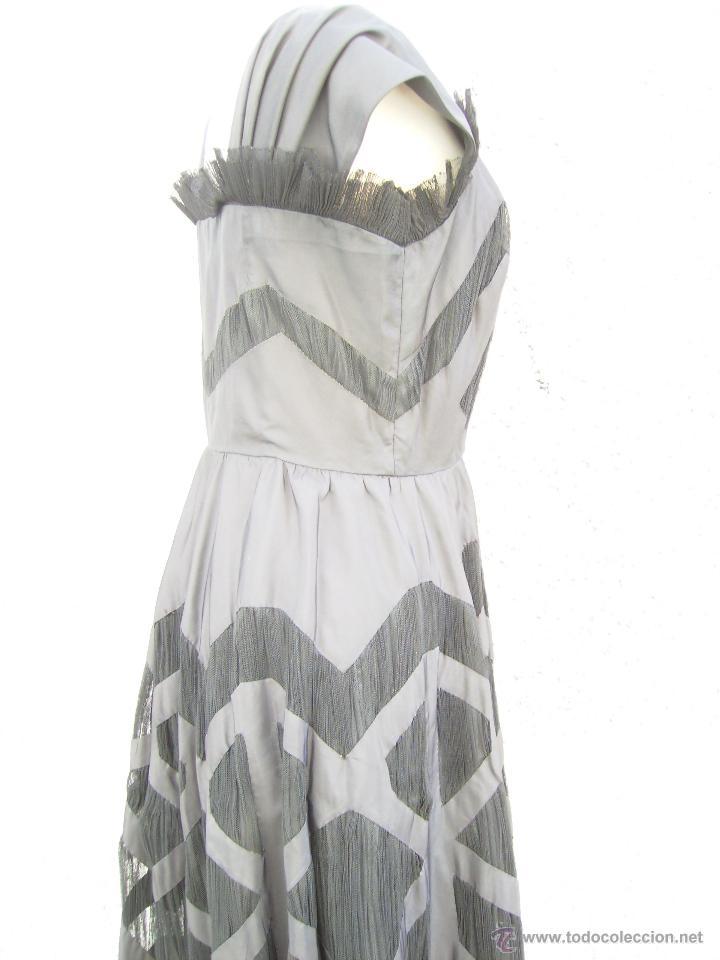 Vintage: Vestido de alta costura, de Asuncion Bastida,. hacia 1950 - Foto 3 - 51236998