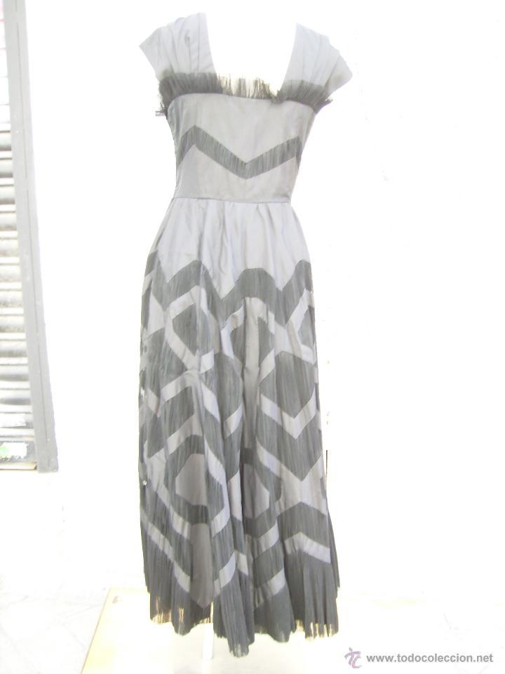 Vintage: Vestido de alta costura, de Asuncion Bastida,. hacia 1950 - Foto 4 - 51236998