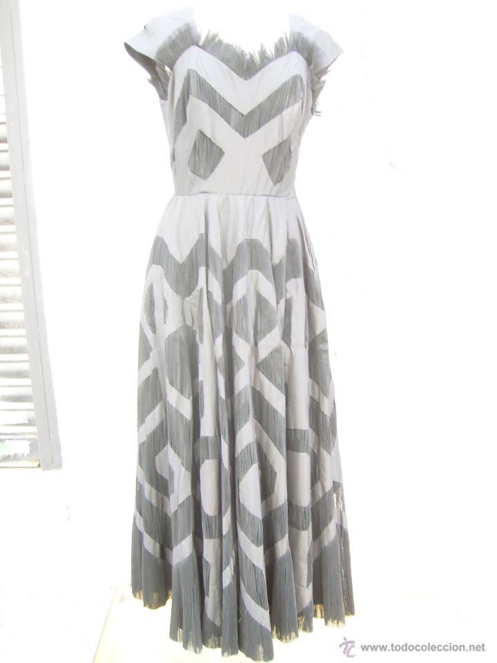 Vintage: Vestido de alta costura, de Asuncion Bastida,. hacia 1950 - Foto 5 - 51236998