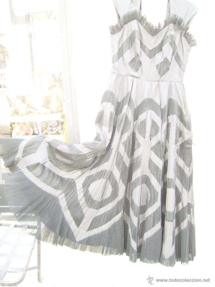 Vintage: Vestido de alta costura, de Asuncion Bastida,. hacia 1950 - Foto 9 - 51236998