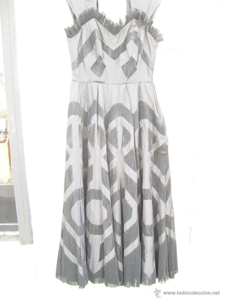 Vintage: Vestido de alta costura, de Asuncion Bastida,. hacia 1950 - Foto 10 - 51236998