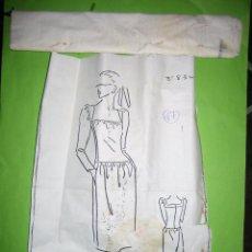 Vintage: Nª 57 PATRON DE TRAJE DE SEÑORA AÑOS 40 O 50. ESTA SIN ABRIR, NO SE LA TALLA. Lote 51772998